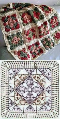 How to Crochet a Solid Granny Square:separator:How to Crochet a Solid Granny Squ. : How to Crochet a Solid Granny Square:separator:How to Crochet a Solid Granny Square Crochet Motifs, Crochet Blocks, Granny Square Crochet Pattern, Crochet Mandala, Crochet Diagram, Crochet Chart, Crochet Squares, Crochet Granny, Crochet Blanket Patterns