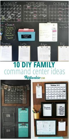 DIY Family Command Center Ideas that will help you and your family stay organized!