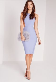 Halter Cut Out Bodycon Dress Lilac - Missguided