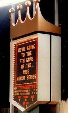 Kansas City Royals 1985 World Series- can't wait to see signs like this in KC again! Kc Royals Baseball, Minnesota Twins Baseball, Baseball Shirts, Kansas City Royals, Kansas City Missouri, San Francisco Baseball, Buster Posey, St Louis Cardinals
