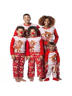 03d00e7d6 US Family Matching Christmas Pajamas Set Women Baby Kids Sleepwear Nightwear