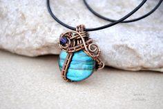 Labradorite round pendant by IanirasArtifacts.deviantart.com on @deviantART
