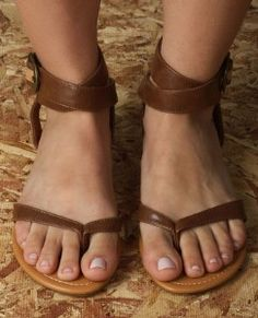 Classified Garvey Tan Vegan Leather Wrap Up Sandal review at Kaboodle