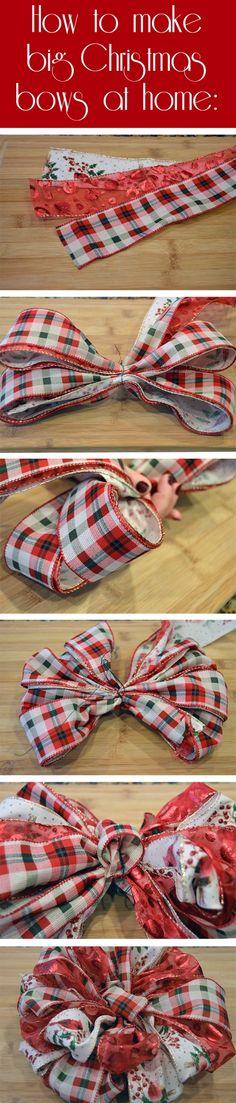 How to make big handmade Christmas bows