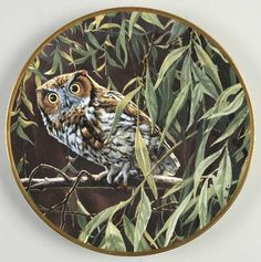 Hamilton CollectionNoble Owls of America: Dawn in the Willows - Made by Spode - Artist: John Seerey-Lester