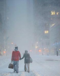 New Yorkers #NewYork #blizzard2016 by newyork