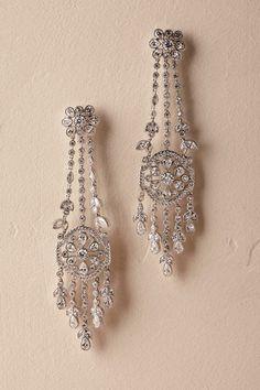 Silver Brinda Chandelier Earrings | BHLDN