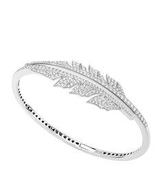 Accessories: Bracelets & Cuffs Stephen Webster Magnipheasant Pavé Open Feather Bracelet
