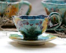 Ceramics cup ceramics and pottery Ceramic by CeramiPhantasy