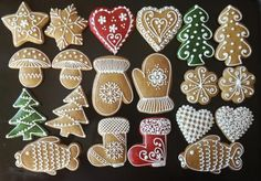 Christmas Snacks, Christmas Goodies, Christmas Baking, Holiday Cookies, Holiday Treats, Bake Sale Packaging, Icing Techniques, Cupcakes, Cut Out Cookies