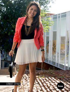 Ana con su adorable sonrisa, energía y sofisticación.