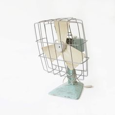 Mint and white fan light blue retro vintage decor by DITM on Etsy, €65.00