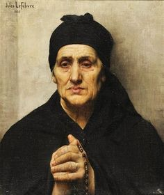 Jules-Joseph Lefebvre (French painter) 1836 - 1911 (Old Greek Woman), 1888 oil on canvas