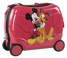 Voglia di Vacanza! Disney Mickey Mouse Valigia Trolley Rigida Cavalcabile, Bagaglio a Mano, Valige e Trolley Disney - TocTocShop.com -