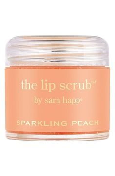 How to use Sara Happ sparkling peach lip scrub: Slather generous amounts onto your lips, exfoliate and remove with a tissue for a soft, supple feeling.