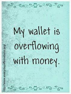 Law of Attraction #lawofattraction #money #wealth #abundance #affirmation http://www.lawofattractionhelp4u.com/