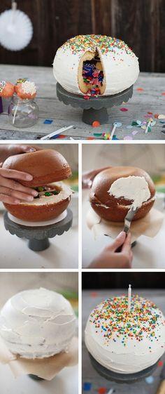 Pinata Cake Tutorial #mexican #pinata http://thecakebar.tumblr.com/post/43781178738/pinata-cake-tutorial