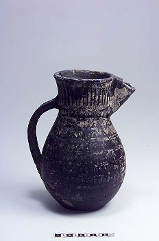 Reconstructed tatinger pitcher  with tin foil decor. Viking. Uppland.