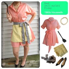 Shades Of Tangerine: Good{will outlet} Friday #32 Costume: 1960s Housewife