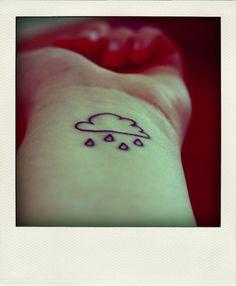 A cloud: | 65 Totally Inspiring Ideas For Wrist Tattoos