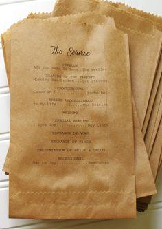 Mason Jar Wedding Programs Set of 100 Custom Flat by AnnaLouAvenue