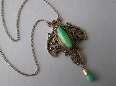An Art Nouveau sterling pendant necklace that was made by Meyle & Mayer
