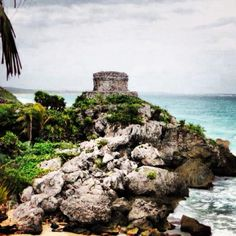 The cliffs at Tulum, Mexico.  Vacation 2012