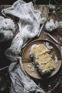 Coconut white layer cake