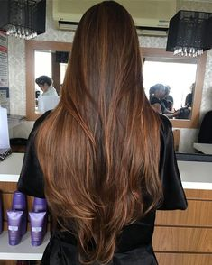 Black Coffee Hair With Ombre Highlights - 10 Cool Ideas of Coffee Brown Hair Color - The Trending Hairstyle Haircuts For Long Hair, Long Hair Cuts, Straight Hairstyles, V Cut Hair, Coffee Brown Hair, Coffee Hair, Brown Hair Shades, Light Brown Hair, Brown Hair Balayage