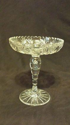 "Vintage Press Glass Pedestal Candy Dish - 8"""