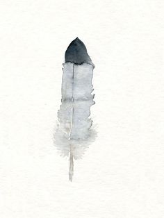 Feather art work  from original watercolor painting by TheClayPlay, $18.00