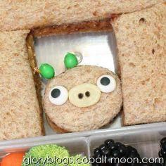 Angry Bird - Pig Kids Bento School Lunch - Healthy Ideas From GlorysMischief.com