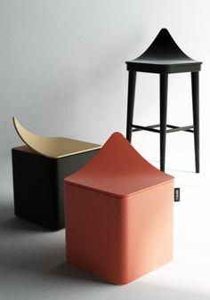 Leaf Stool and Bar Chair by Hyunsoo Choi