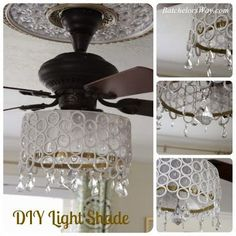DIY Ceiling Fan Chandelier! I have some old lamps from my great grandma that I could use to make this!!!