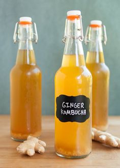 Kombucha and ginger are a dynamic duo of superhero proportions