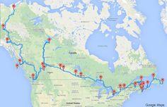 Envie de visiter le Canada? Un ordinateur a calculé le road-trip idéal