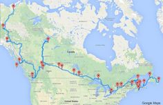 """Voyage au Canada : un algorithme établit le """"road-trip"""" idéal. Il a ainsi défini une route longue de 16.226 kilomètres, à parcourir en 32 jours - en comptant 6h de conduite par jour."""