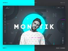 Singer's website shot by Alex Egorov Design Sites, Web Ui Design, Web Design Trends, Design Blog, Design Concepts, Page Design, Design Design, Website Design Inspiration, Graphic Design Inspiration