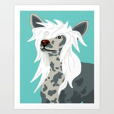 Chinese Crested by Mandi Lynn Prevoteau Collect your choice of gallery quality Giclée, or fine art prints custom trimmed by hand in a variety of sizes with a white border for framing.