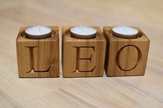 Personalized Wood Candle Holder Blocks Home Decor Tealight Rustic Candle Holder Letters Engraved Advent Candle Holder Christmas Decor