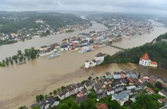 Europe Flood Warning:Flood accros all over Central Europe / Europe News - Heavy rains have led to thousands of people being moved to higher ground to escape some of the worst floods central Europe has seen in years. Europe News, Central Europe, Europe Europe, Passau Germany, Flood Warning, Weather Storm, Danube River, Europe Photos, Vacation Spots