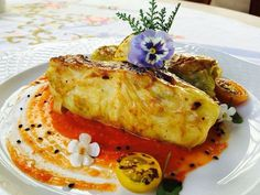 Cabbage leaves stuffed with grilled veg and sun-dried tomatoes sauce
