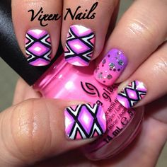 Inspired by hannhroxit! Nail art