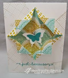 Stamp & Scrap with Frenchie: Designer Paper for Diagonal Frame
