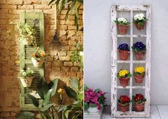 5 Amazing Vertical Garden Ideas from Recycled Items - http://www.amazinginteriordesign.com/5-amazing-vertical-garden-designs-made-recycled-items/