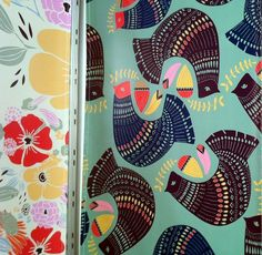 surface design work in digital fabric prints by leah duncan from the 2011 Surtex show via d*s