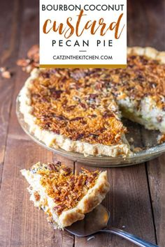 Looking for a twist on a holiday standby? This bourbon coconut custard pecan pie adds some new textures and flavors to this perennial favorite recipe! Tart Recipes, Cupcake Recipes, Dessert Recipes, Great Desserts, Delicious Desserts, Homemade Pie Crusts, Thanksgiving Pies, Sweet Tooth, Sweet Treats