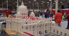 A priest in Pennsylvania built a Lego replica of St. Peter's Basilica. The Lego Vatican is now on display at Philadelphia's Franklin Institute.