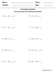 math worksheet : fractions worksheets  printable fractions worksheets for teachers  : Maths Percentages Worksheets