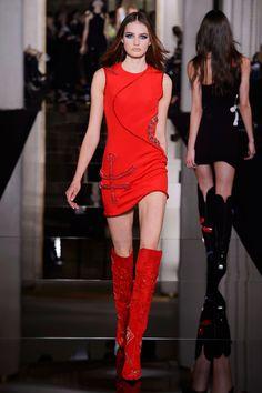 Atelier Versace   - HarpersBAZAAR.com The red boots!